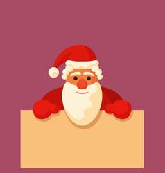Santa claus holding blank board vector