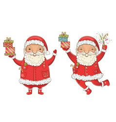 santa claus with gifts vector image