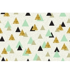seamless pattern with color triangles vector image