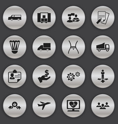 Set of 16 editable complex icons includes symbols vector