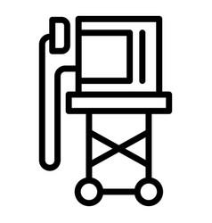 Shock defibrillator icon outline style vector