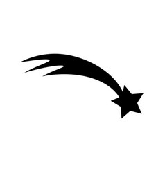 shooting star flat web icon or sign isolated on vector image