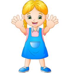 smiling girl cartoon vector image