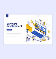 software development modern flat design isometric vector image