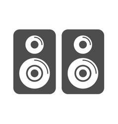 Speaker simple icon design vector