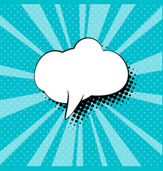 Speech bubble on azure pop art background vector