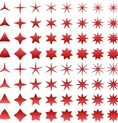 Star symbol set vector image