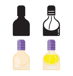 toilet water in perfume bottle flat icons vector image
