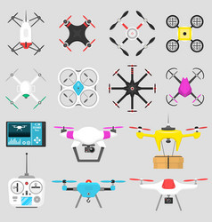 vehicle drone quadcopter air vector image