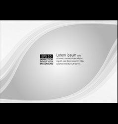 wave white and gray color abstract background vector image