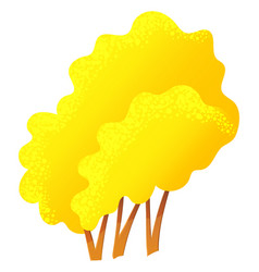yellow bright autumn tree with a lush crown thin vector image