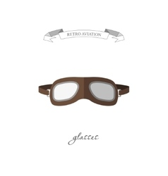 Aircraft glasses in a flat style vector image vector image