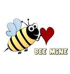 Bee mine- love concept vector image vector image