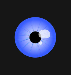 logo design eye icon vector image