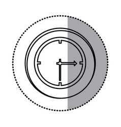 monochrome contour with circle sticker of wall vector image vector image