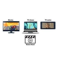 Multiplatform streaming service advertisement vector image