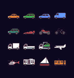 pixel art transport vector image