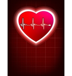 Abstract heart beats cardiogram EPS 8 vector image vector image