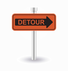 detour sign vector image vector image