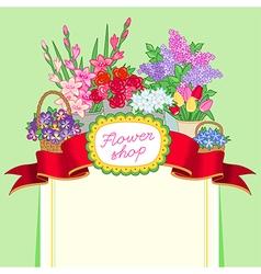flower shop green price vector image