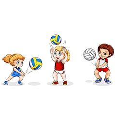 Kids playing with balls vector image vector image