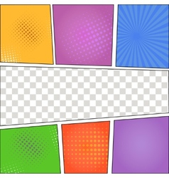 Speech Bubbles in Pop-Art Style background vector image vector image