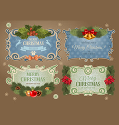 Christmas label set vector image vector image