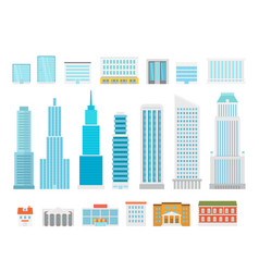 different city elements collection modern city vector image vector image