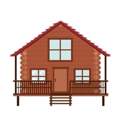 log cabin icon vector image vector image