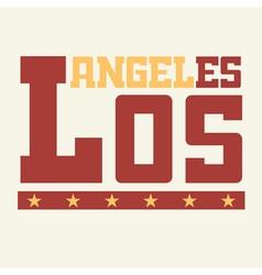 T shirt Los Angeles California vector image