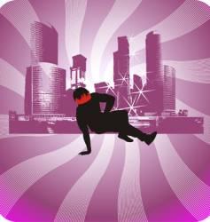 urban background break dancer vector image vector image