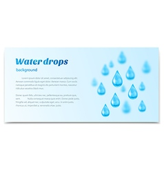 Water drops background Banner label mineral water vector image vector image