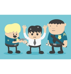 crime by bad police vector image