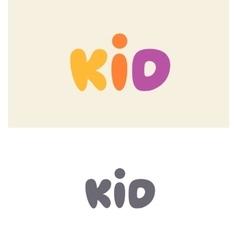 Kid logo design vector image