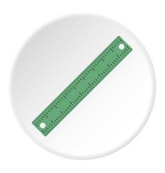 ruler rectangular shape icon circle vector image