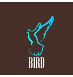 vintage with a bird vector image vector image