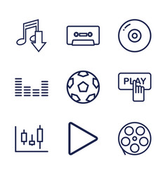 9 record icons vector