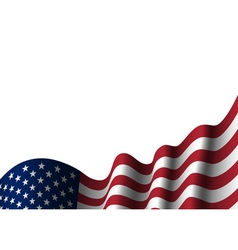 American flag isolated vector