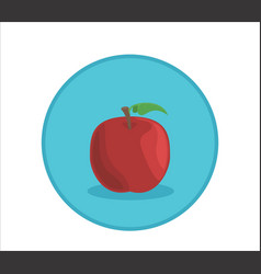 apple rounded symbol badge vector image