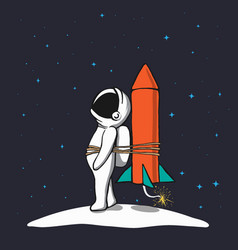astronaut is being prepared to flies in space vector image