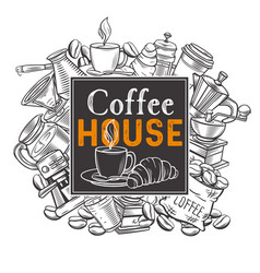 Banner template coffee house vector