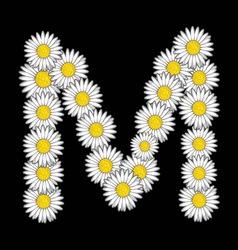 Bele rade slova M vector