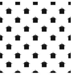 big cook saucepan pattern seamless vector image