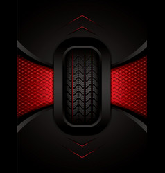 Car tire vector