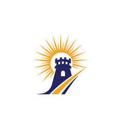 castle icon vector image