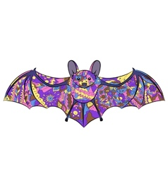 colorful bat vector image