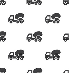 concrete mixer seamless pattern vector image