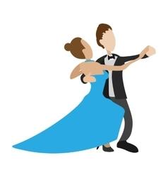 couple dancing waltz cartoon vector image