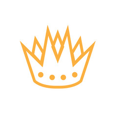 crown icon design template isolated vector image