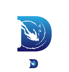 Diver letter based initial d symbol vector